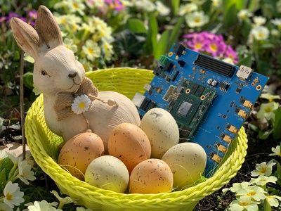 Foto hema electronic wünscht frohe Ostern