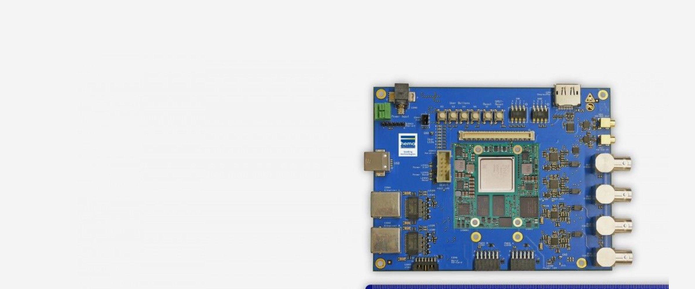 Embedded Vision Board mit FPGA-Modul für Videostreaming von hema electronic GmbH