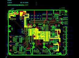 Layout representation of an FPGA video board