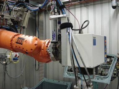 seelectorICAM LASER in der Laser-Materialbearbeitung am Roboter