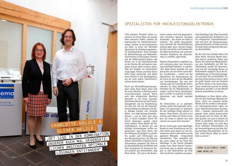 Artikel Interview Unternehmensnachfolge im IHK Magazin