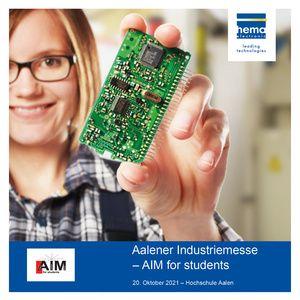 hema auf der Aalener Industriemesse 2021 – AIM for students