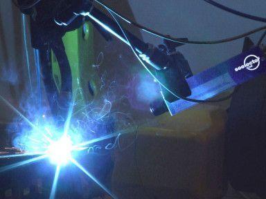 seelectorICAM High Dynamic Range Videokamera beim Einsatz in der Schweißtechnik