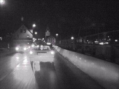 High Dynamic Range Videoszene mit Nachtbildern bei starkem Gegenlicht