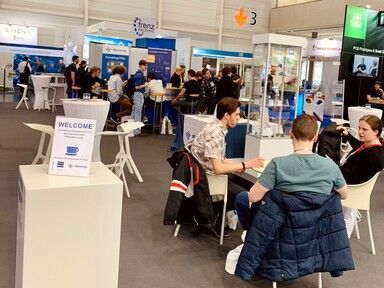 Embedded World view of the coffee lounge