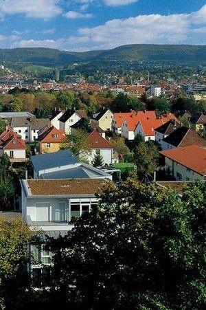 Blick über Stadt Aalen Ostalbkreis Technologiestandort Süddeutschland